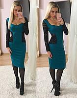 Платье с кружевными вставками 652-5 (три цвета)
