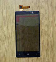 Сенсор Nokia Lumia 820 черный