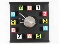Прикольные часы на стену Цифры кубики