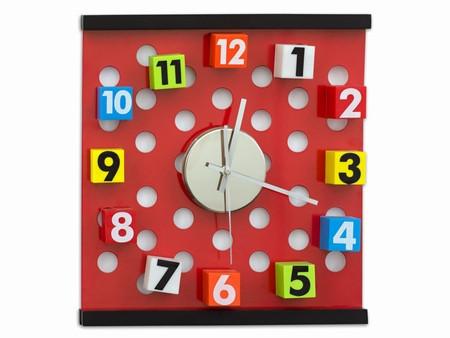 Часы на стену Кубики цветные