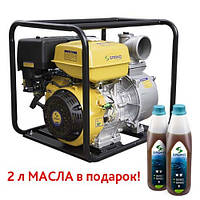 Мотопомпа газобензиновая Sadko WP-100 PRO (145 м.куб/час, для чистой воды) , запчасти гарантийный ремонт, официальный представитель и сервисный центр