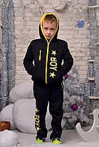 """Е1982 Подростковый теплый костюм """"BOY"""" черный, фото 3"""