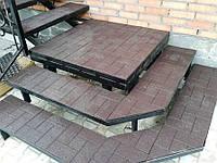 Резиновая плитка для ступеней и входных груп