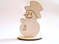 """Новогодние заготовки для творчества """"Снеговик на подставке"""""""
