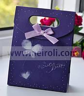 Подарочная коробочка картонная Бабочка