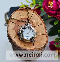 Часы карманные - подвеска «Тропические бабочки»
