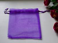 Подарочная упаковка из органзы, фиолетовая 16*12 см