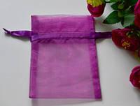 Подарочная упаковка из органзы, сливовый цвет 15*10см