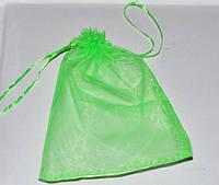 Подарочная упаковка из органзы, зеленый 16*22 см