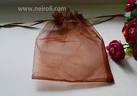 Подарочная упаковка из органзы, терракотовый 16*22 см