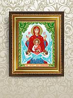 Авторская канва для вышивки бисером «Икона Знамение»