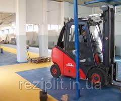 Резиновая плитка для промышленных помещений, складов и производств.