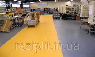 Резиновое напольное покрытие для промышленных помещений, складов и производств.