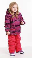 Зимний комплект на девочку, куртка и полукомбинезон, лыжный р.104-140 ТМ Pidilidi-Bugga (Чехия)