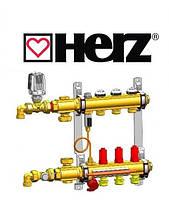 Коллектор латунный для теплого пола Herz Compactfloor Light 9 вых. без насоса