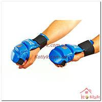 Перчатки (накладки) для карате MATSA MA-1804 кожа, синие