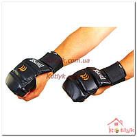 Перчатки (накладки) для карате MATSA MA-1804 кожа, черные