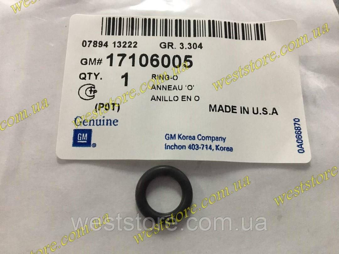 Манжет,кольцо форсунки нижнее Тонкое на Ланос,Lanos Aveo, GM 17106005 Оригинал