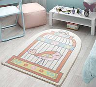 Коврик в детскую комнату 100х150  HAPPY CAGE SALMON Confetti