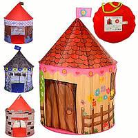 Палатка М 2967, домик с 2 окнами с сетками, 1 вход с накидкой на липучках, с завязками, микс цвета, в чехле