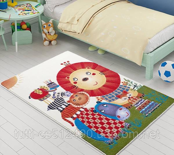 Купить Коврик в детскую комнату 100х150 LION KING ОРАНЖЕВЫЙ Confetti