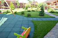 Резиновая плитка в ландшафтном дизайне