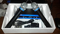 Sennheiser система UHF база два микрофона