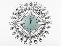 Дизайнерские часы на стену Павлин