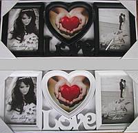 Рамка для фотографий, фотоколлаж Love.