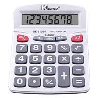 Настольный калькулятор Kenko KK-6103A-8 музыкальный, 8 разрядов, большой дисплей, 158х126х42 мм
