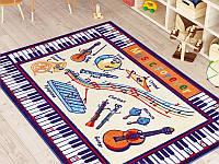 Коврик в детскую комнату 133х190 MUSIC ANTI-SLIP 01 БЕЖЕВЫЙ Confetti