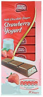 Шоколад Mister Choc Strawberry Yogurt 200г(Германия)