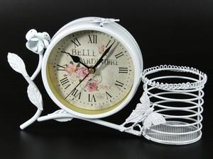 Часы настольные Ретро с корзинкой