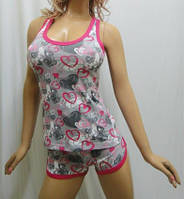 Пижама женская- майка- борцовка с короткими шортами