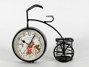 Настольные часы металлические Велосипед