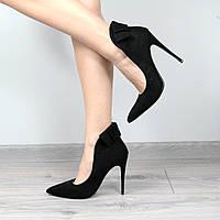 Туфли женские лодочки на шпильке Vices Christmas черные размер 36