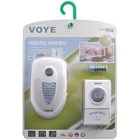 Звонок дверной электрический VOYE V003A AC, беспроводной, радиус до 100 м, 38 мелодий, мощность 2W