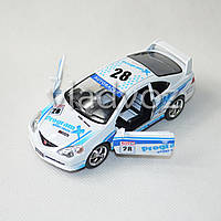 Машинка Honda Street fighter метал 1:32 белая