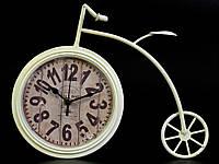 Настольные часы из металла ретро стиль Велосипед