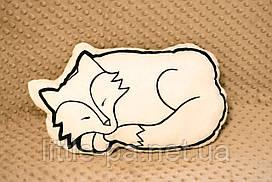 """Подушка из натуральной ткани для ребенка  """"Лисичка"""""""