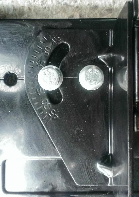 Регулировка угла зажима на пиле отрезной по металлу Eurotec CM 102