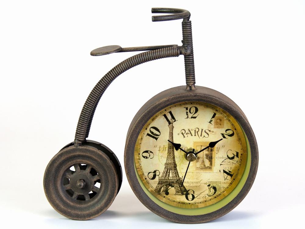 Часы в стиле ретро настольные Велосипед