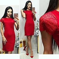 Платье женское, модель 03, красное