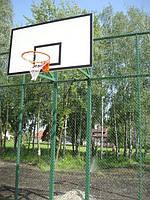 Баскетбольная стойка на двух опорах, уличная, стационарная.