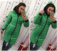 Женский пуховик пальто зелёное 46 48 50 52 54