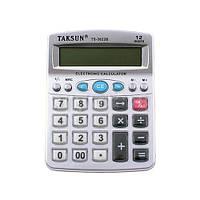 Калькулятор настольный средний Taksun TS-3822B, 12 знаков, питание батарейки 2хААА, 130х100х30 мм