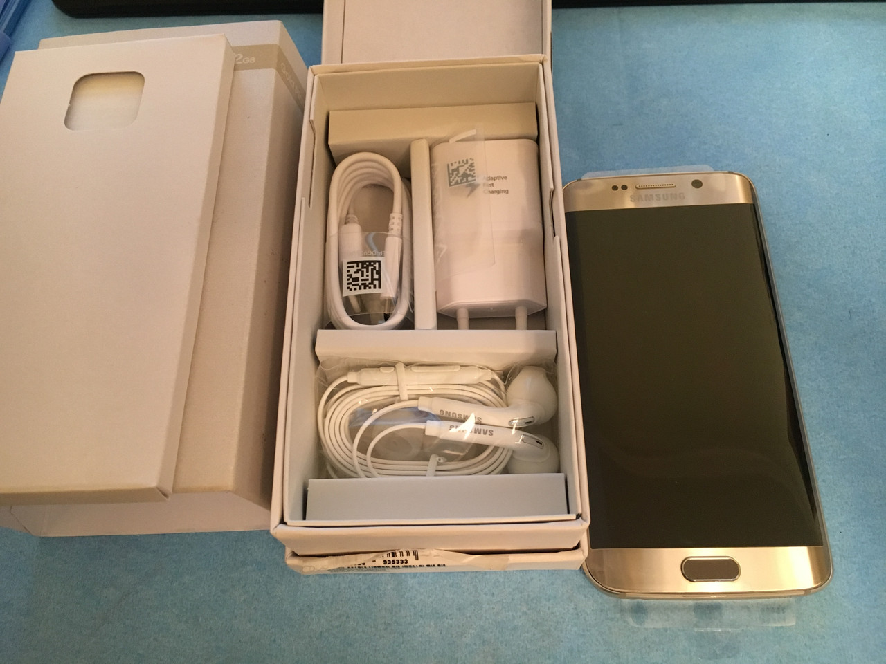 Мобильный телефон Samsung Galaxy S6 Edge 32 GB G925 Gold НОВЫЙ  АН3