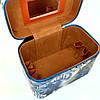 Шкатулка-бьютикейс для украшений и косметики с зеркалом Light blue/grey CR-110-MD (размер M 20*12,5*14 см), фото 4