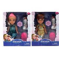 """Кукла """"Frozen"""" 2 вида, со снеговиком и расчёской, в кор.18*14*5.5см ()"""