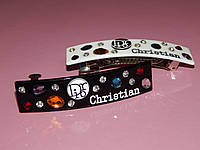 Заколка-автомат CHRISTIAN DIOR,  узкая c камнями, 2 цвета, фото 1